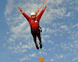 Man Suspended in Sky for Trust Building