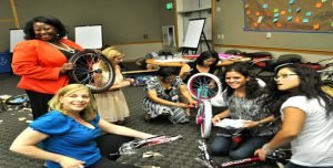 Venture Up Charity Bike Building for kids Team Building