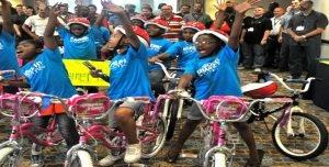 Venture Up Houston Texas Charity Bike Building for kids Team Building