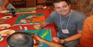 Venture Up ArtRageous art painting team building