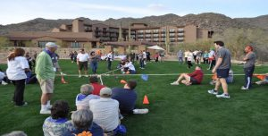 Venture Up Outdoor Field Games 4 way volleyball Corn Hole Tug of War