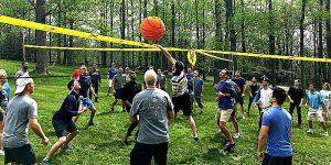 Venture Up 4 Way Volleyball Outdoor Team Building