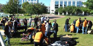 Venture Up Virginia charity bike building Field Team Building