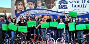 Venture Up Save the Family Charity Bike Building for kids Team Building
